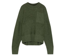 Tait Textured-wool Sweater Forest Green