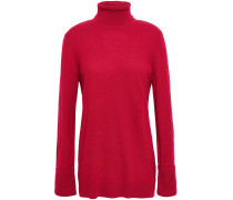 Woman Cashmere Turtleneck Sweater Claret