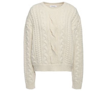 Cable-knit Wool-blend Sweater Ivory