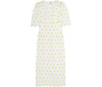 Daisy macramé lace midi dress
