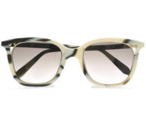 D-frame printed acetate and gold-tone sunglasses
