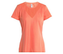 Perforated-paneled Tech-jersey T-shirt Bright Orange