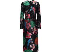 Lace Jacquard Dress Black