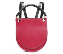 Two-tone Leather Backpack Fuchsia Size --