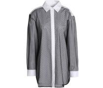 Point d'esprit cotton-blend blouse