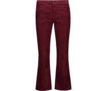 Selena cropped cotton-blend corduroy bootcut jeans