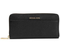 Pebbled-leather Wallet Black Size --