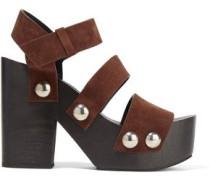 Tess suede platform sandals