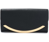 Lizzie textured-leather wallet
