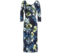 Woman Floral-print Ponte Dress Navy
