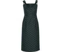 Embellished Jacquard Dress Dark Green