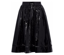 Misty flared patent-leather skirt