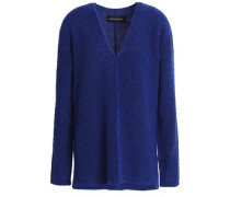Mélange Knitted Sweater Royal Blue