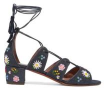 Isadora embroidered denim sandals