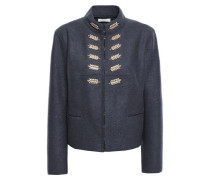 Embellished Wool-felt Jacket Anthracite