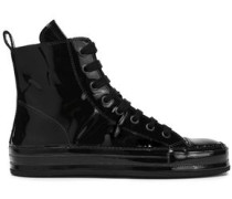 Patent-leather Sneakers Black