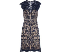 Melody Guipure Lace Dress Navy
