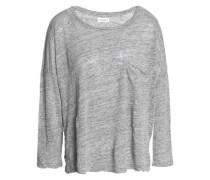 Georgie mélange slub linen-jersey top