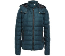 Avedon Quilted Cotton-blend Down Jacket Petrol