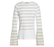 Striped Knitted Sweater Ivory