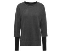 Layered Knitted Sweater Dark Gray