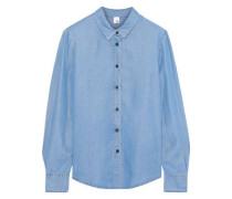 Tencel-chambray Shirt Light Blue