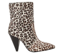 Woman Atomic West Leopard-print Calf Hair Ankle Boots Animal Print
