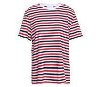 Striped Cotton-jersey T-shirt White