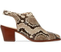 Jaynes python slingback ankle boots