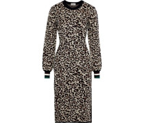 Chana Metallic Jacquard-knit Dress Neutral