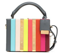 Albany Mini Striped Leather Shoulder Bag Multicolor Size --