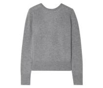 Dante Wrap-effect Cashmere Sweater Gray
