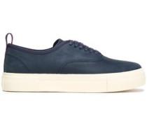 Nubuck platform sneakers