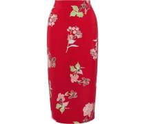 Printed jersey midi pencil skirt