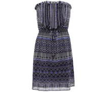 Strapless Chiffon Mini Dress Purple