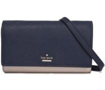 Textured-leather Shoulder Bag Navy Size --