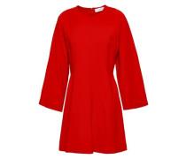 Stretch-crepe Mini Dress Red