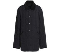 Velvet-trimmed shell jacket