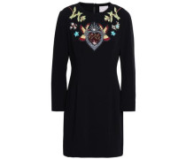 Josephine Embellished Crepe Mini Dress Black Size 0