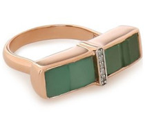 Baja Precious 18-karat rose gold vermeil, emerald and diamond ring