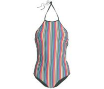 Striped Halterneck Swimsuit Multicolor
