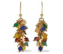 Corvara Gold-tone Quartz Earrings Multicolor Size --
