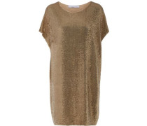 Sequined stretch-knit dress