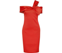 Knotted satin-twill dress