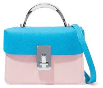 Two-tone Textured-leather Shoulder Bag Multicolor Size --