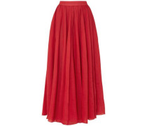 Arlene Ramie Maxi Skirt Red Size 12