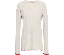 Ribbed-knit Sweater Beige