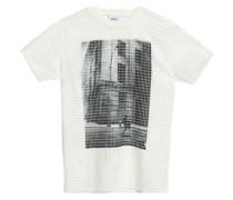 Laser-cut printed jersey T-shirt