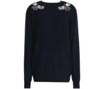 Embellished merino wool sweater