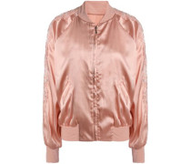 Macaroon Delights lace-trimmed silk-blend satin jacket